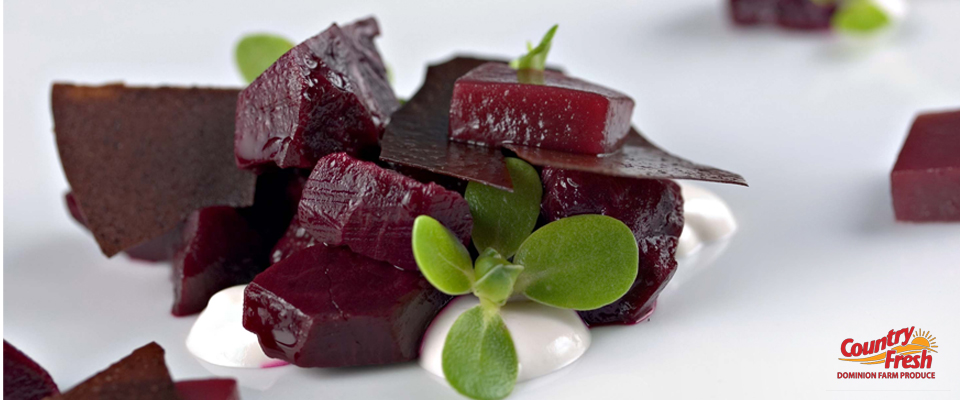 Picking Country Fresh Brand Red Beets