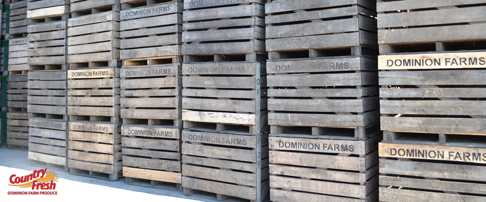 Dominion Farm Produce Wooden Crates